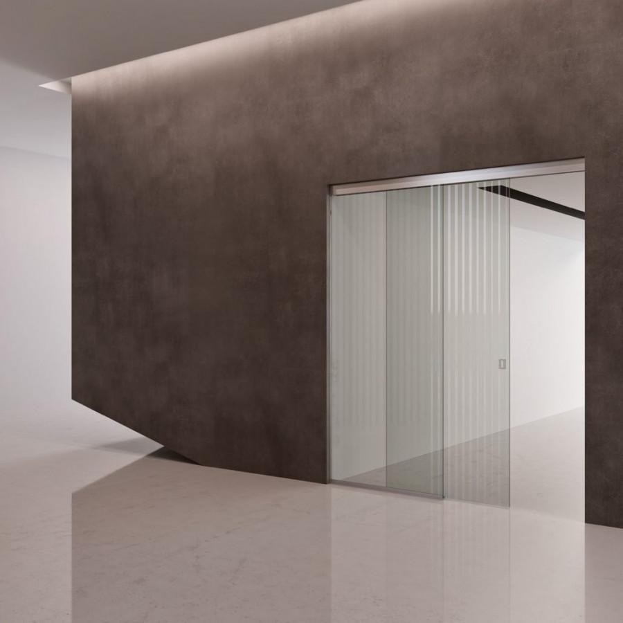 Wooden interior door with aluminum box